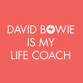 David Bowie Is My Life Coach Shirt (Coral)