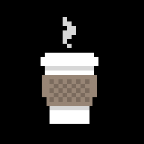 Robot Juice Pixelated Coffee Shirt