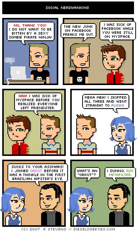 Social Nerdwanking Cartoon