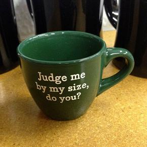 judge me by my size yoda espresso mug
