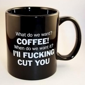 fucking cut you coffee mug