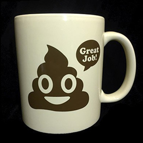 great job poop emoji mug