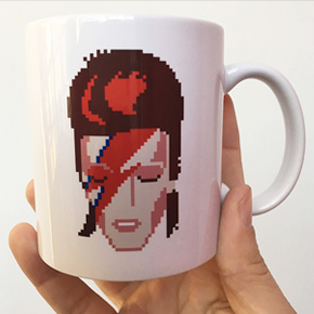 zaggy starbucks david bowie mug